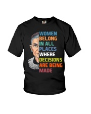 RBG Women Belong In All Places  Youth T-Shirt thumbnail