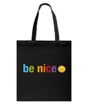Be Nice Smiley Face Tote Bag thumbnail