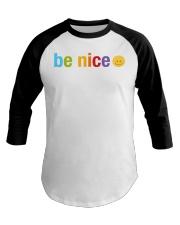Be Nice Smiley Face Baseball Tee thumbnail