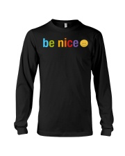 Be Nice Smiley Face Long Sleeve Tee thumbnail