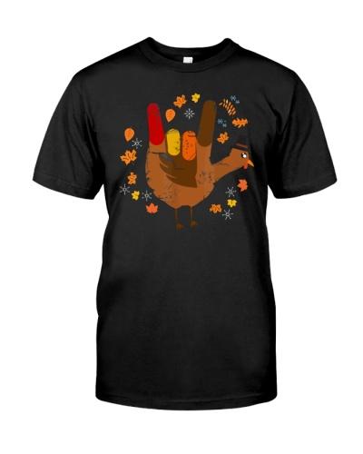 Sign Language I Love You Thanksgiving Turkey