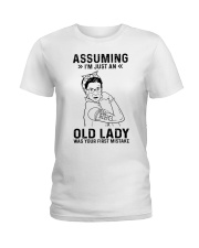 RBG Assuming Old Lady Was Your First Mistake Ladies T-Shirt thumbnail