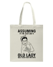 RBG Assuming Old Lady Was Your First Mistake Tote Bag thumbnail