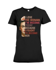 I Love The Woman I've Become Today Premium Fit Ladies Tee thumbnail