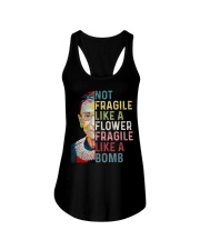RBG Not Fragile Like A Flower Fragile Like A Bomb Ladies Flowy Tank thumbnail