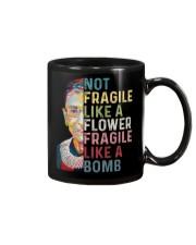 RBG Not Fragile Like A Flower Fragile Like A Bomb Mug thumbnail