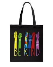 Be Kind Sign Language Color Tote Bag thumbnail