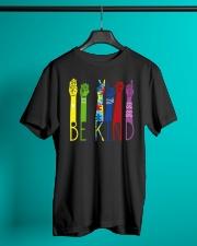 Be Kind Sign Language Color Classic T-Shirt lifestyle-mens-crewneck-front-3