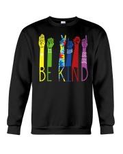 Be Kind Sign Language Color Crewneck Sweatshirt thumbnail