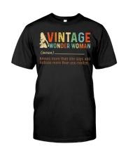Vintage Wonder Woman Classic T-Shirt front