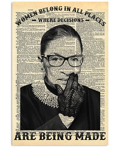 RBG Newspaper Women Belong In All Places