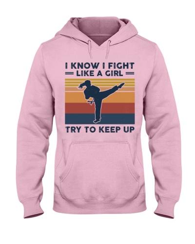 I Know I Fight Like A Girl - Karate Retro