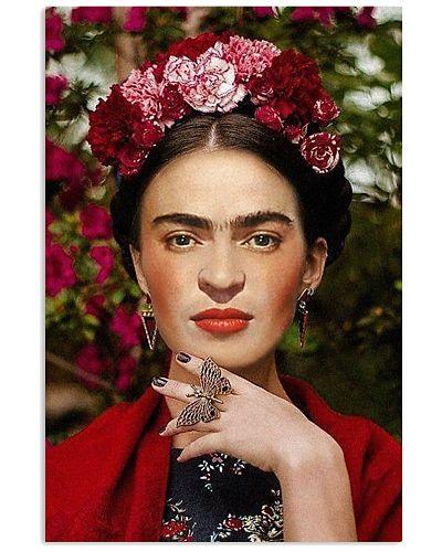 Frida Kahlo Red Flowers