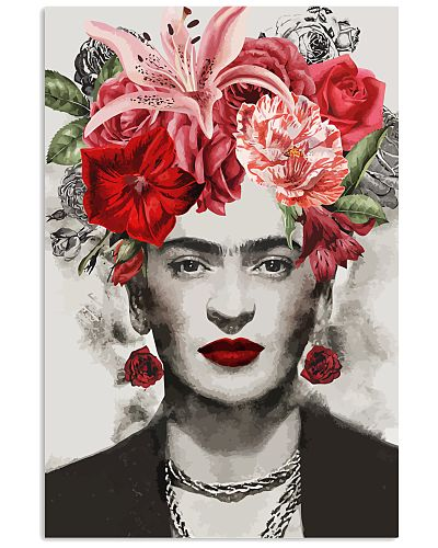 Frida Kahlo Red Flowers