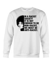 In A Racist Society Crewneck Sweatshirt thumbnail