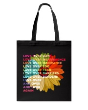 Love Over Hate Sunflower Vintage Tote Bag thumbnail