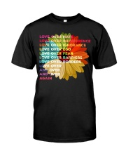 Love Over Hate Sunflower Vintage Classic T-Shirt front