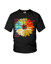 Love Over Hate Sunflower Vintage Youth T-Shirt thumbnail