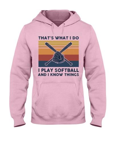 I Play Softball And I Know Things - Retro