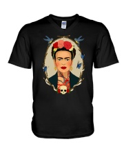 Frida Kahlo Sugar Skull V-Neck T-Shirt thumbnail