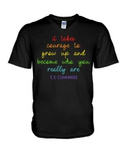 It Takes Courage To Grow Up  V-Neck T-Shirt thumbnail