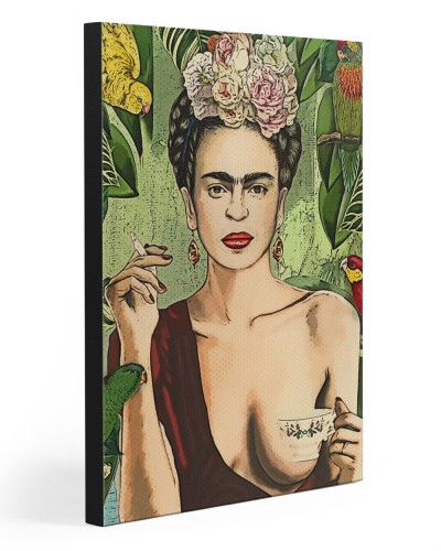 Frida Kahlo Tea And Smokes Canvas Print