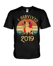 Frida Kahlo - I Survived 2019 V-Neck T-Shirt thumbnail