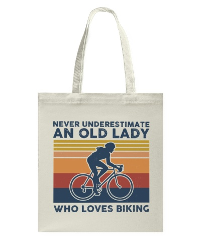 Never Underestimate An Old Lady Who Loves Biking