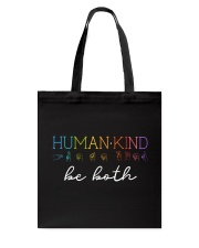 Human - Kind Be Both Sign Language Tote Bag thumbnail