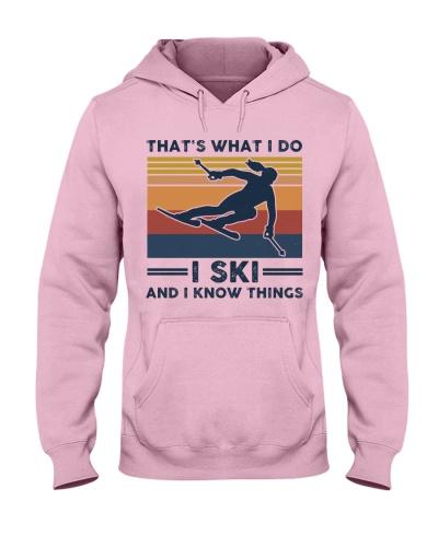I Ski And I Know Things - Retro