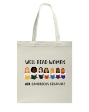 Well-read Women Are Dangerous Creatures Tote Bag thumbnail