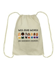 Well-read Women Are Dangerous Creatures Drawstring Bag thumbnail