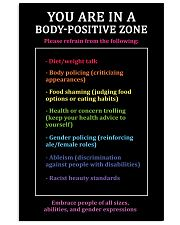 You are in a body-positive zone 11x17 Poster front