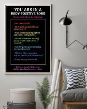 You are in a body-positive zone 11x17 Poster lifestyle-poster-1