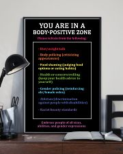 You are in a body-positive zone 11x17 Poster lifestyle-poster-2