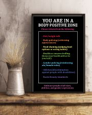You are in a body-positive zone 11x17 Poster lifestyle-poster-3