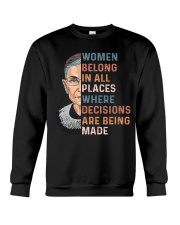 Women Belong In All Places  Crewneck Sweatshirt thumbnail