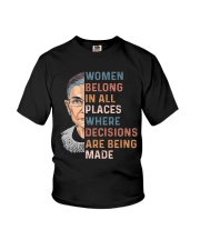 Women Belong In All Places  Youth T-Shirt thumbnail