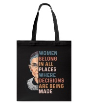 Women Belong In All Places  Tote Bag thumbnail