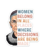 Women Belong In All Places  Sticker - Single (Vertical) thumbnail