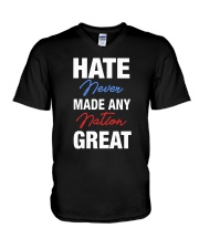 Hate Never Made Any Nation Great V-Neck T-Shirt thumbnail