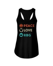 Peace Love RBG Retro Ladies Flowy Tank thumbnail