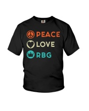 Peace Love RBG Retro Youth T-Shirt thumbnail