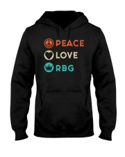 Peace Love RBG Retro Hooded Sweatshirt thumbnail