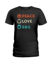 Peace Love RBG Retro Ladies T-Shirt thumbnail