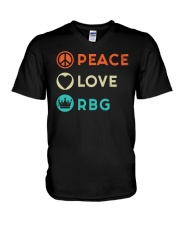 Peace Love RBG Retro V-Neck T-Shirt thumbnail