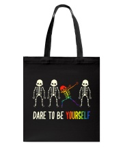 Dare To Be Yourself LGBT Pride Tote Bag thumbnail