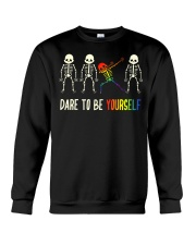 Dare To Be Yourself LGBT Pride Crewneck Sweatshirt thumbnail