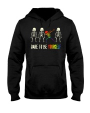 Dare To Be Yourself LGBT Pride Hooded Sweatshirt thumbnail