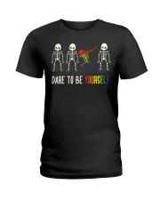 Dare To Be Yourself LGBT Pride Ladies T-Shirt thumbnail